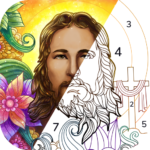 Bible Coloring – Paint by Number Free Bible Games APK MOD Unlimited Money 1.2.5.1