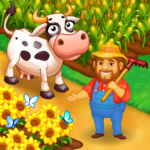 Farm Town Happy village near small city and town MOD Unlimited Money 2.53