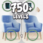 Find the differences 750 levels MOD Unlimited Money