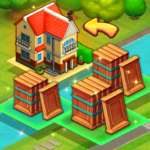 Merge train town Merge Trees to create a My Home 1.1.09 MOD Unlimited Money
