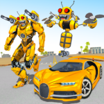 Bee Robot Car Transformation Game Robot Car Games 1.3 MOD Unlimited Money
