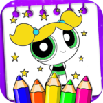 Coloring Power Girl 1.0.3 MOD Unlimited Money