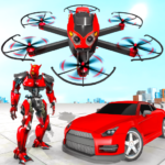 Drone Robot Car Transforming Game Car Robot Games 1.0 MOD Unlimited Money