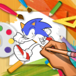 Coloring Blue Hedgehog Olympic Mania 1.0 MOD Unlimited Money