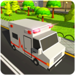 Blocky US Fire Truck Army Ambulance Rescue Game 1.0.5 MOD Unlimited Money