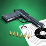 Pistol shooting at the target. Weapon simulator 4.4 MOD Unlimited Money