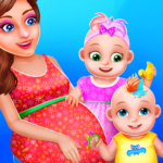 Pregnant Mommy And Twin Baby Care 0.8 MOD Unlimited Money