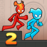 Fire and Water Stickman 2 The Temple MOD Unlimited Money